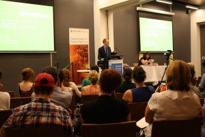 The audience were riveted as David Ritter urged them to use their legal skills to aid the environmental movement.