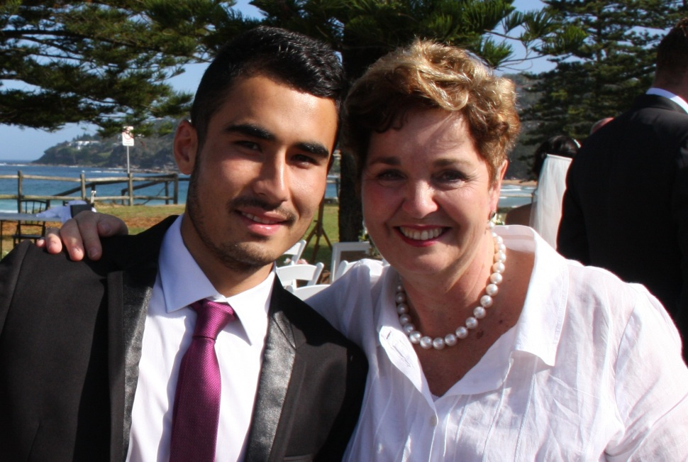 Figure 3: Jaffar, now 18, & mum at a recent family wedding.