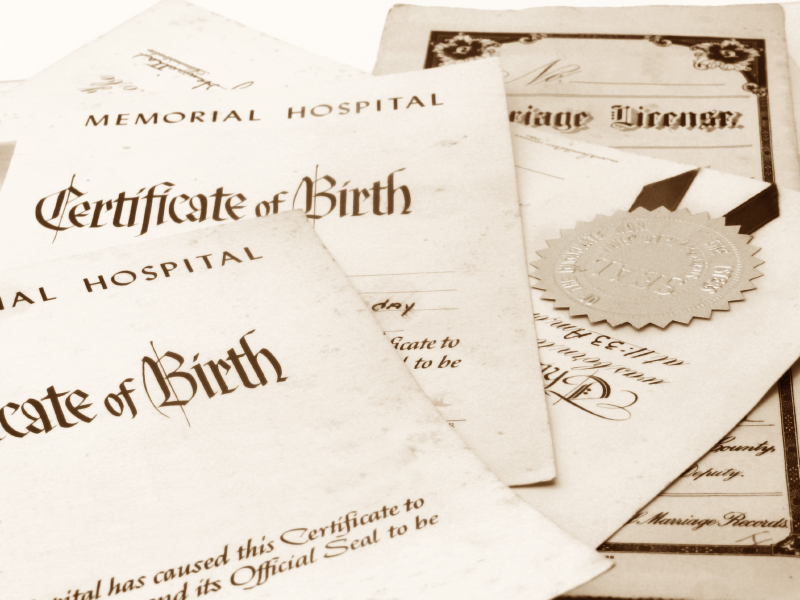birth certificates from other countries