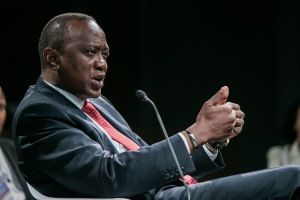Uhuru Kenyatta, President of Kenya at the World Economic Forum on Africa 2013.